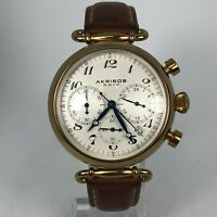 Akribos Mens AK630TN Brown Stainless Steel Case Chronograph Date Indicator Watch