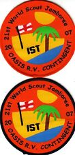 Boy Scout Badges 21 WORLD JAMBOREE UK 2007 OASIS R.V. Cont x 2 varieties