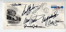 NASCAR LEGENDS HAND SIGNED FIRST DAY COVER     RARE    PETTY+MANY OTHERS     JSA