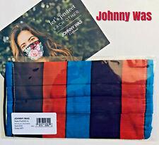 Johnny Was Butterfly Face Mask Sateen Cotton Filter Pocket Boho
