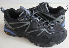 Merrell Capra Sport Womens Sz 6.5 Gore Tex Hiking Shoes Vibram Black Gray Purple