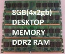 8gb PC2-6400 DDR2 Memory DESKTOP pc ram 4 x 2gb hp DELL Optiplex 745 755 760 960