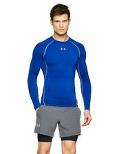 Under Armour Heat Gear Sonic Compression Long Sleeve Top Royal Blue/White 2XL
