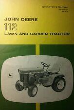 John Deere 112 Lawn Garden Tractor & 43 Blade Owner & Parts (3 Manuals) 70pg