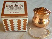 """Vintage Avon """"HEARTHSIDE"""" Sweet Honesty Cream Sachet .66 oz. ~75% Full - Unused!"""