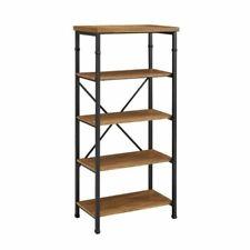 Atlin Designs 4 Shelf Bookcase in Black