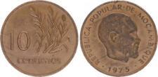 Mozambique 10 Centimos 1975 President Samora Machel Vz , Kl.randfehler