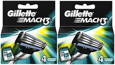 2 x 4 Pack = 8 Genuine Gillette Mach3 Replacement Razor Blades - Mach 3