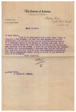 William T. Stead - Typed Letter Signed - Famous Journalist Who Died on Titanic