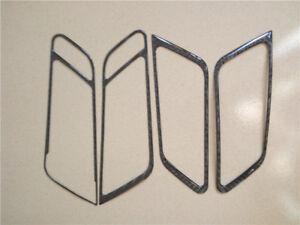Carbon Fiber Door Window Lift Armrest Frame Trim Cover For Porsche Macan A05