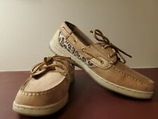 Maui Island Leopard Sequin Boat Shoes Size 9.5W