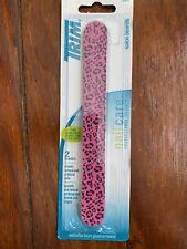 TRIM Salon Emery Boards Pink Leopard Print Professional Quality Nail Care NEW