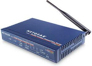 Netgear Cable/DSL ProSafe Wireless Router Print Server FM114P Kit w/ Pwr Adapter