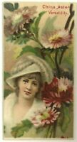 Floral Beauties China Aster Duke's Cigarettes Tobacco Trade Card Durham NC