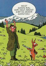 "Postkarte, Osterkarte, ""Heut Abend gibt es Jägerschnitzel"""