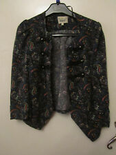 Cropped Multicoloured Floral 3/4 Sleeve Waistcoat Style Top River Island Size 6