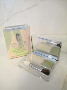 CLINIQUE COLOUR SURGE EYE SHADOW DUO # 204 LEMON LIME .07 OZ BOXED