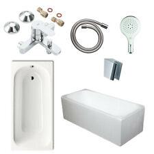 Kaldewei Stahl-Badewanne, Optional Styroporträger, Grohe Wannenbatterie, Brause