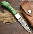 Cutlery Salvation Hand Made Damascus Steel Blade Back Lock Folding Knife