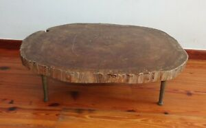 DEALER-RITA  Antique rust tree root bark coffe table Georgeous Nakashima