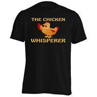 Funny Chicken The Whisperer  Men's T-Shirt/Tank Top v762m
