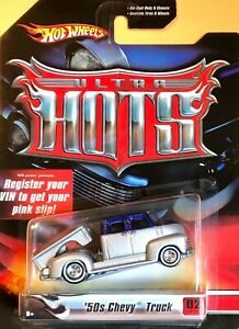 Hot Wheels 2006 Ultra Hots 50s CHEVY TRUCK Blue & Silver J4012  Real Riders