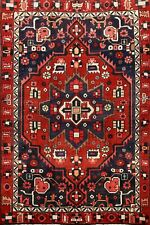 Excellent Geometric Designer Select Bakhtiari Tribal Area Rug Wool Carpet 5'x7'