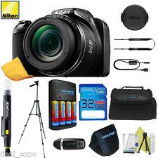 NIKON COOLPIX L340 20MP Digital Camera 28x Zoom + Pro Bundle