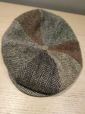Harris Tweed Vintage Flat Cap - Size Small