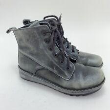 NAOT Womens EU 39 US 8 - 8.5 Gazania Leather Grey Booties Ankle Combat Boots