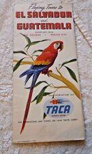 VINTAGE  LOVELY PAMPHLET EL SALVADOR GUATEMALA TACA AIRWAYS SYSTEM 1949