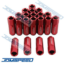 20 PCS M12X1.5MM RED OPEN END EXTENDED ALUMINUM TUNER RACING WHEEL LUG NUTS