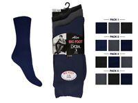 3 Pairs Mens BIG FOOT SOCKS Gents Large Feet Cotton Rich Plus Size 11-14