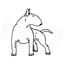 Bull Terrier Cartoon Animal Dog Car Vinyl Sticker Window Wall Bumper Van Decal