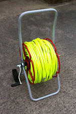 HI VIS READY TO USE 8mm Minirobore Reel Trolley With 100mtr hose