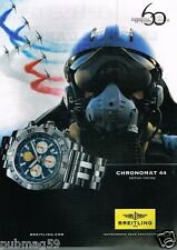 Publicité advertising 2013 La Montre Breitling Chronomat 44 patrouille de France