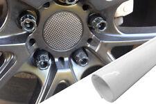 4x Cerchi in Lega Cerchioni Mozzi Coperchio Pellicola Progettazione Bianco