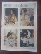 VINTAGE STYLE WWII PROPAGANDA POSTER - OURS TO FIGHT FOR - NORMAN ROCKWELL