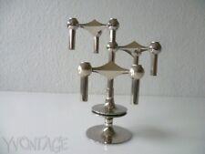 Stylisches Set Kerzenhalter + Fuss NAGEL Kerstenständer Modulsystem 70er 70s
