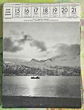 1957 SKIBOTEN Norvège Soleil de Miniut, Midnight Sun,El Sol de Médianoche