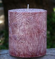 200hr BAMBOO & TEAKWOOD Earthy & Welcoming Natural Wax CANDLE with COTTON WICKS
