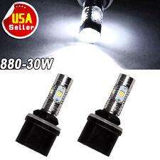 2x High Power 30W 880 893 892 HID White LED Projector Fog Driving Light Bulbs US