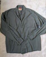 Men's Wrangler Authentics Long Sleeve Shirt Teal Blue Size XL