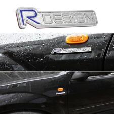2x 00-17 Metal R-DESIGN Emblem Volvo XC90 S60 V60 C30 Badge Trunk Decal Sticker