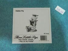 "NEW IN BOX Disney WDCC Three Little Pigs Fiddler ""Hey Diddle I Play on my Fiddle"