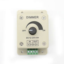 12-24V 8A Manual PWM Dimmer Switch Adjustable Controller For 3528 5050 LED Strip