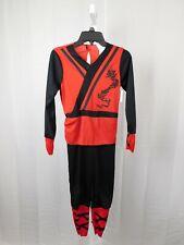 Red Ninja Boys Halloween Costume Jumpsuit - Child 8-10 Medium #7334