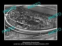 OLD LARGE HISTORIC PHOTO OF PHILADELPHIA PENNSYLVANIA AERIAL VIEW OF ZOO c1935