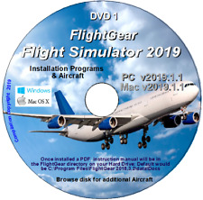 Flight gear FlightGear Simulateur de vol 2019.1.1 Deluxe - 2 DVD 500+ avions