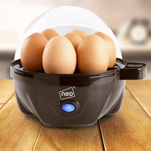 Clear Lid Electric Egg Cooker Boiler Poacher & Steamer Fits 7 Eggs - Refurbished